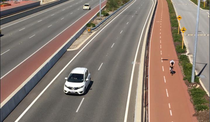 Perth, Australia highway cycling