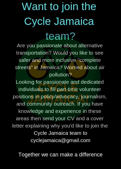 Cycle Jamaica job posting